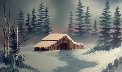 Winter Barn Original by Keith Sachs