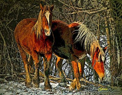 Snowed Trees Mixed Media - Winter Coats by Julie Grace