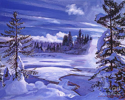 Mist Painting - Winter by David Lloyd Glover