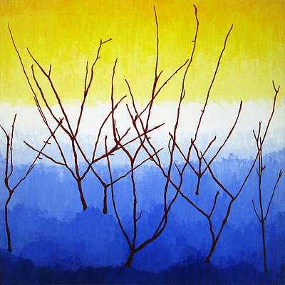 Lively Painting - Winter Dogwood by Oliver Johnston