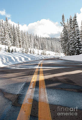 Asphalt Photograph - Winter Drive by Juli Scalzi