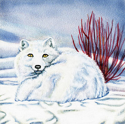 Camouflaged Painting - Winter Fox by Antony Galbraith