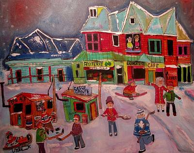 Painting - Winter Fun Time by Michael Litvack