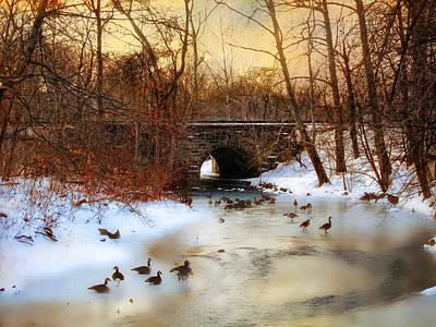 Winter-landscape Digital Art - Winter Geese by Jessica Jenney