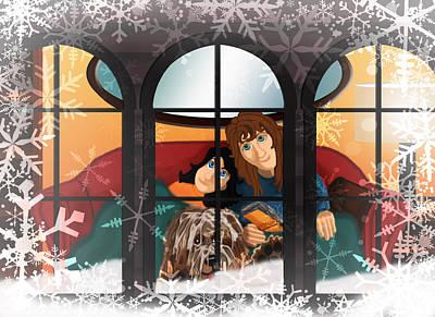 Winter Home Original by Michelle Rene Goodhew