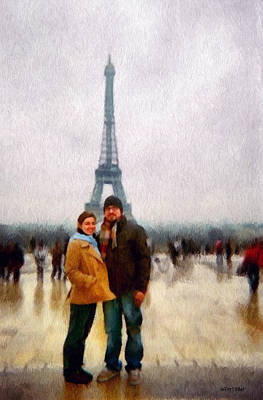 Winter Honeymoon In Paris Print by Jeff Kolker