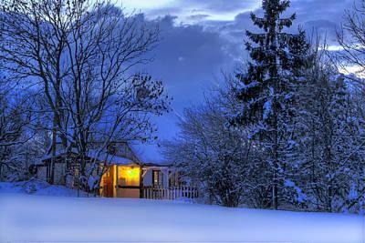 House Photograph - Winter House by Jan Boesen