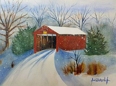 Winter In Lancaster County Pa Print by Don Whitesel