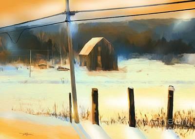 Winter In Powassan Ont. Print by Bob Salo