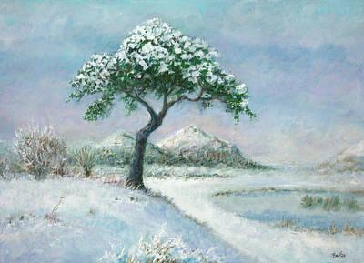 Scotland Painting - Winter In Scotland by Sandra Delaney