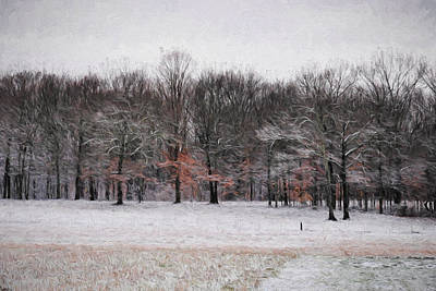 Snow Scene Landscape Painting - Winter In Tennessee by Jai Johnson