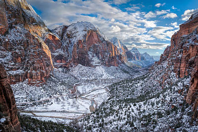 Southern Utah Photograph - Winter In Zion National Park by James Udall