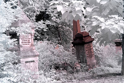 Winter Infrared Cemetery Print by Helga Novelli