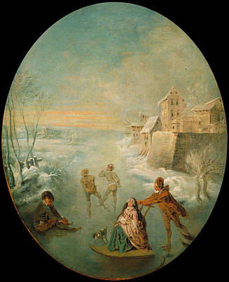Jean-baptiste Pater Painting - Winter by Jean-Baptiste Pater