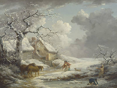 18th Century Painting - Winter Landscape by George Morland