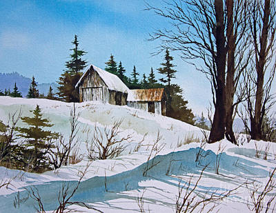 Winter Scene Artists Painting - Winter Landscape by James Williamson