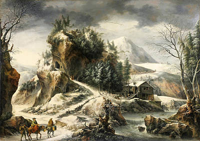 Painting - Winter Landscape With A Cavern by Francesco Foschi