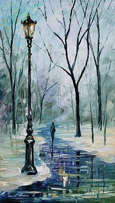 Winter Light Print by Leonid Afremov