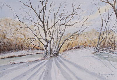 Lansdcape Painting - Winter Light by Raymond Schuster