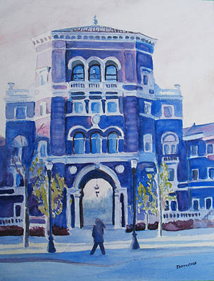 Osu Painting - Winter Morning On Campus by Jenny Armitage