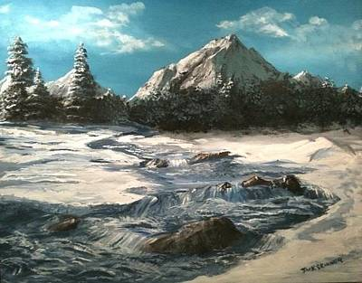 Painting - Winter Mountain Stream by Jack Skinner