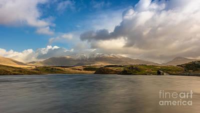 Wales Digital Art - Winter Mountains by Adrian Evans