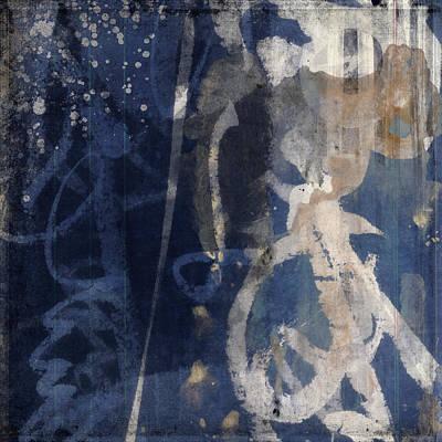 Japan Mixed Media - Winter Nights Series Three Of Six by Carol Leigh