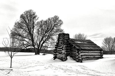 Old Log Cabin Photograph - Winter Of Hope And Sorrow  by Olivier Le Queinec