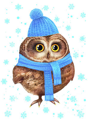 Winter Owl Original by Korenkova Valeriya