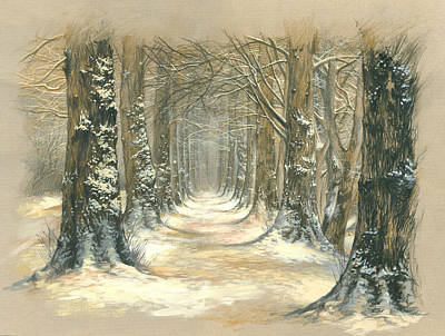 Fresh Air Photograph - Winter Parkway by Zorina Baldescu