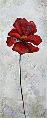 Maroon Painting - Winter Poppy I by Shadia Derbyshire