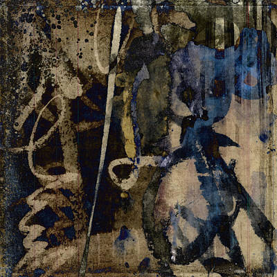 Abstract Montage Mixed Media - Winter Rains Series Three Of Six by Carol Leigh