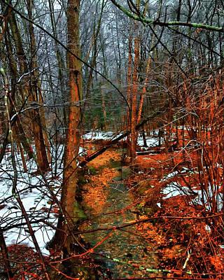 Winter Recedes Print by Michael Putnam