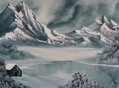 Bob Ross Painting - Winter Reflections by John Koehler