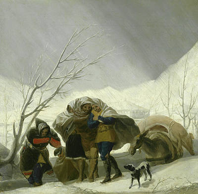Winter Scenes Painting - Winter Scene by Goya