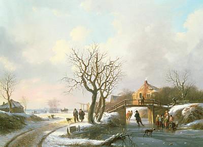 Winter Scene Print by Unknown