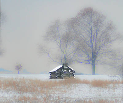Winter Scene - Valley Forge Print by Bill Cannon
