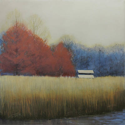 Shed Painting - Winter Shed by Cap Pannell