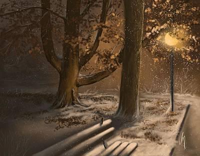 Digital Painting - Winter Silence by Veronica Minozzi
