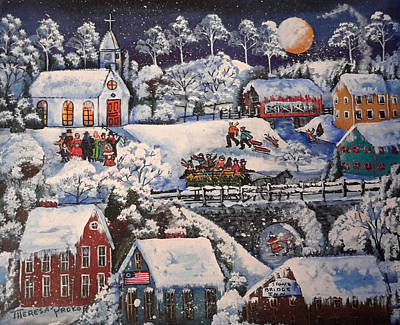 Winter Sleigh Ride Print by Theresa Prokop