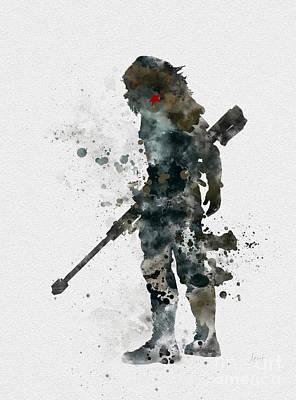 Winter Soldier Print by Rebecca Jenkins