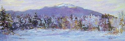 Snowscape Painting - Winter Solitary by Alicia Drakiotes