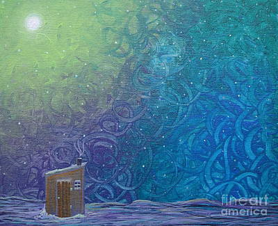 2 Solitudes Painting - Winter Solitude 2 by Jacqueline Athmann