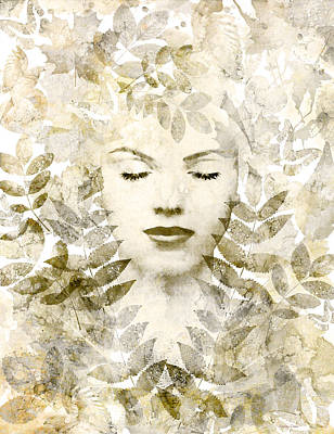 Goddess Digital Art Mixed Media - Winter Sonata by Stacey Chiew