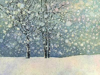 Snowy Trees Painting - Winter Sonnet by Hailey E Herrera