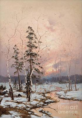 Outdoors Painting - Winter Sun by Celestial Images