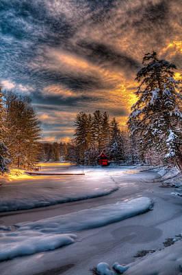 Winter Sunset Print by David Patterson