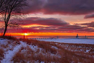 Winter Sunset In St Joe Print by Jackie Novak
