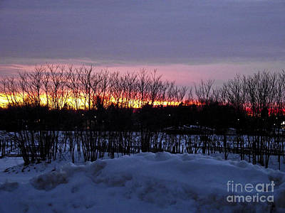 Winter Sunset Original by Raquel Bright
