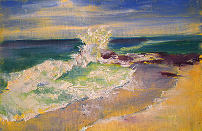 Surf Painting - Winter Surf by Richard Rochkovsky